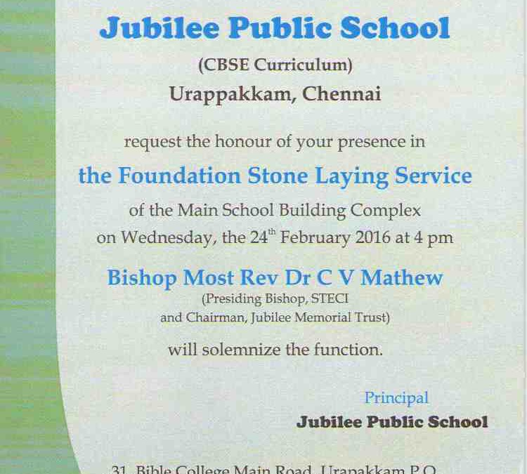 Foundation Laying Service for Jubilee Public School